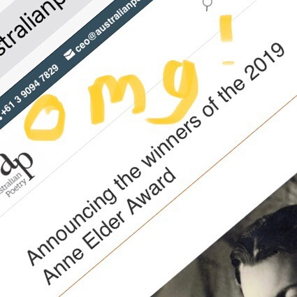 The Things the Mind Sees Happen commended in Anne Elder Award 2019